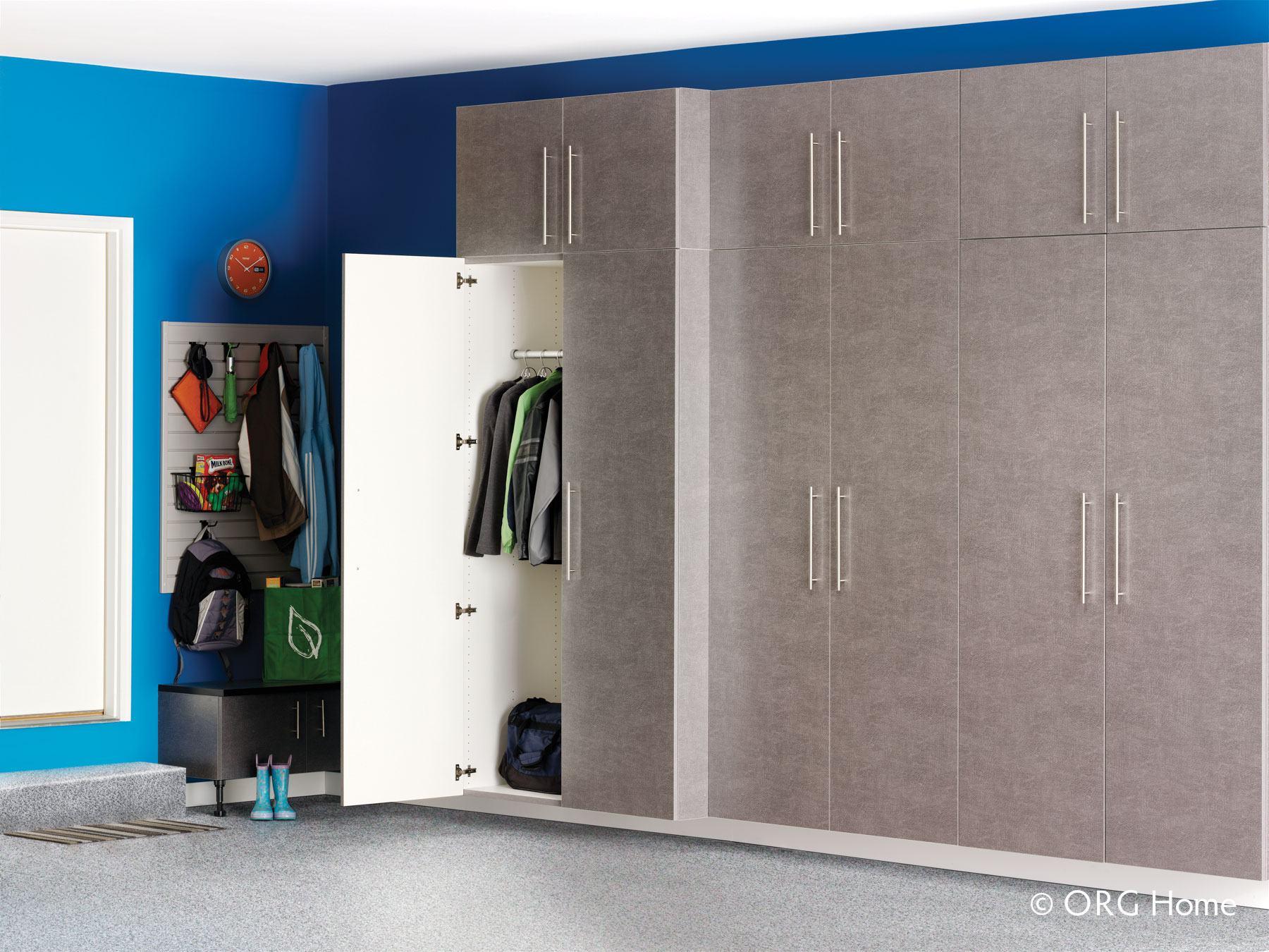 grey garage cabinets