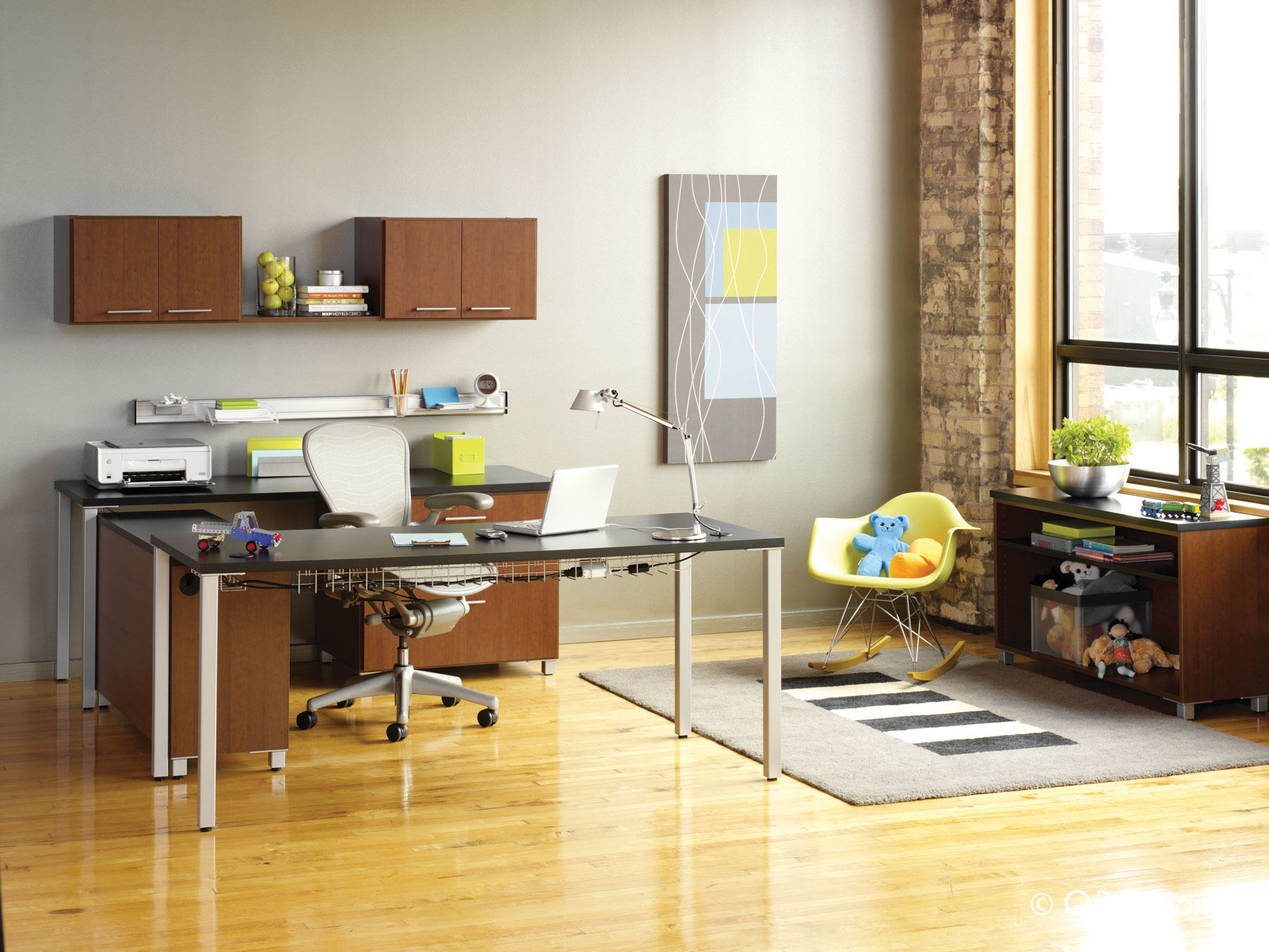brown home office cabinets