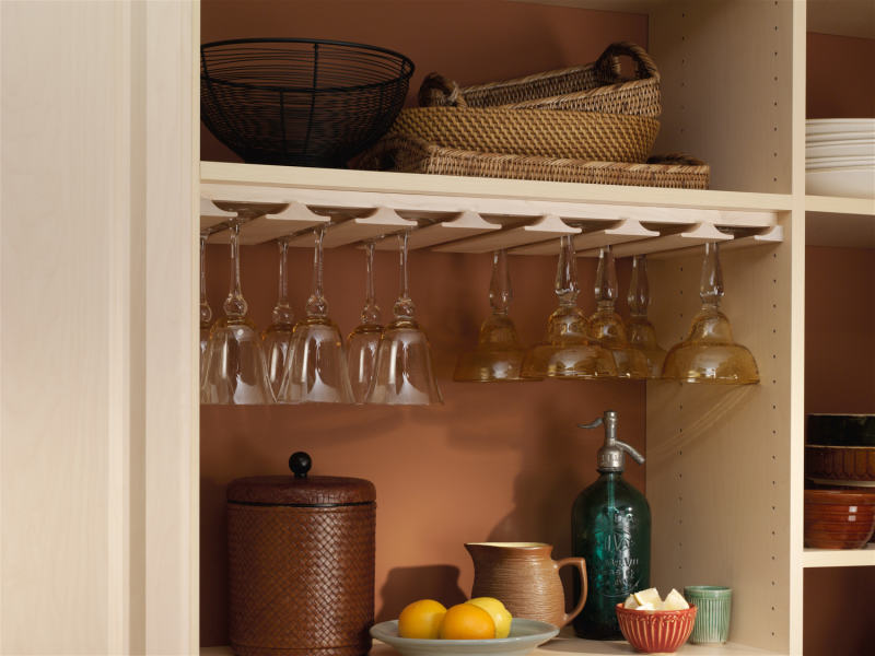 pantry glassware storage