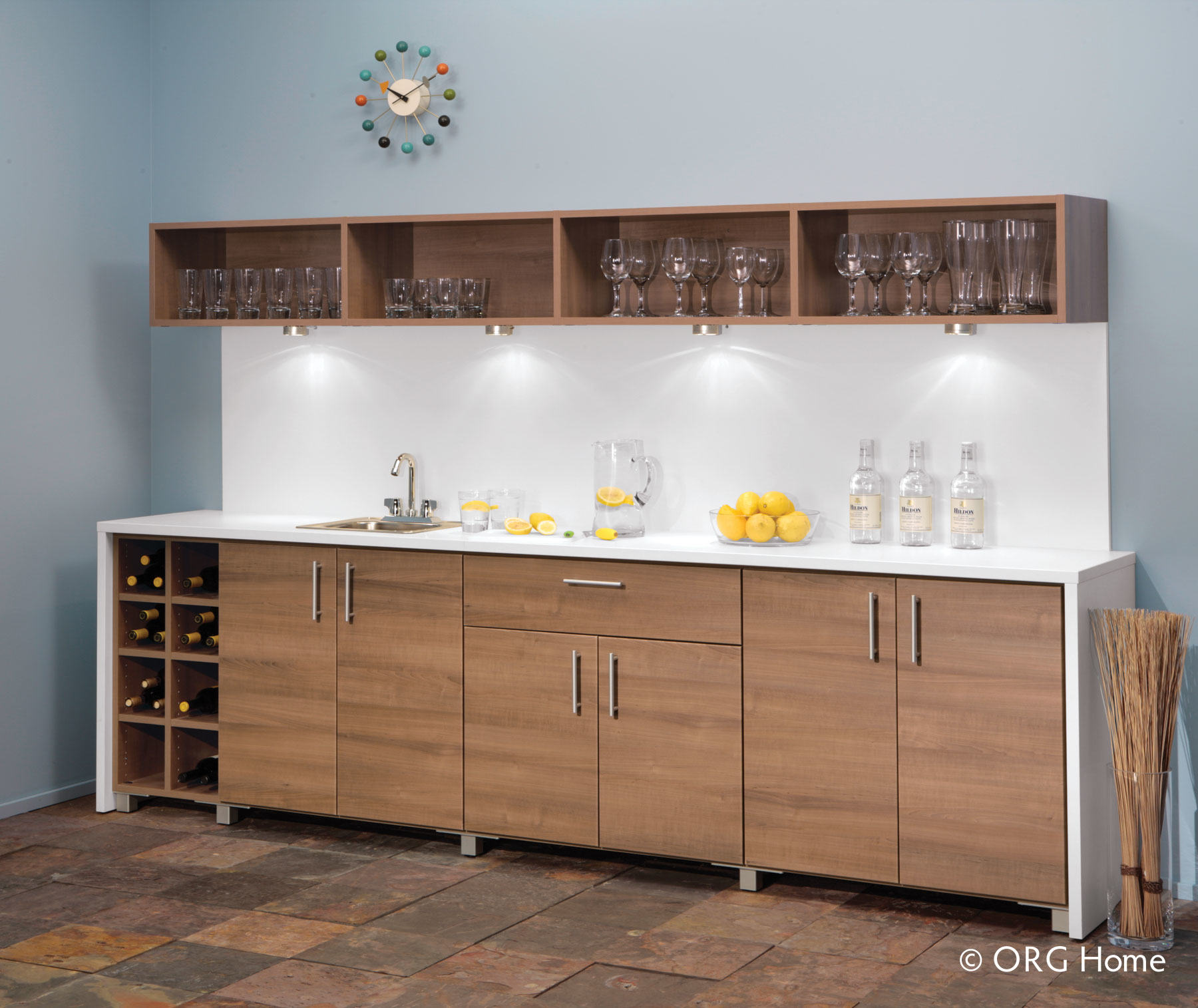custom home beverage center