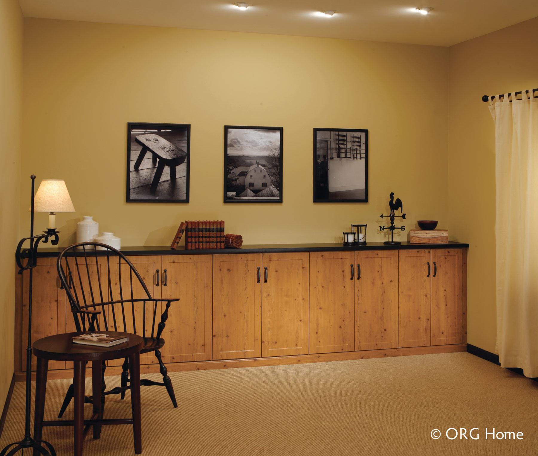basement custom cabinet storage
