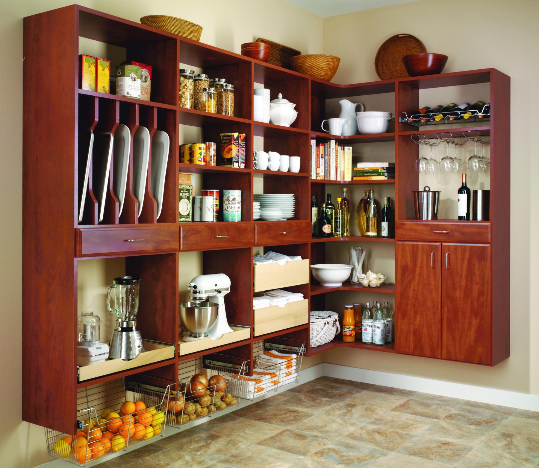 wood custom pantry system