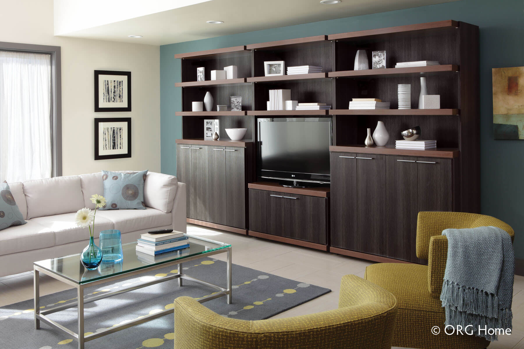 modern custom entertainment center