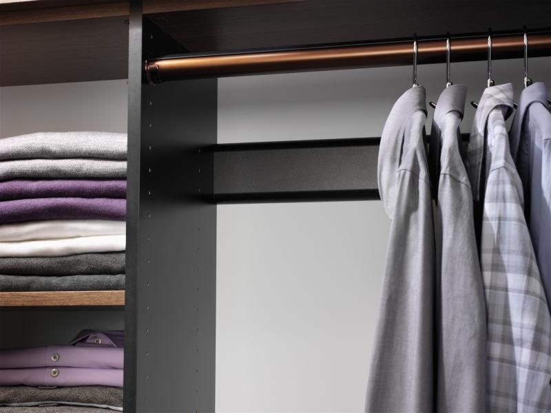 custom closet adjustable rods