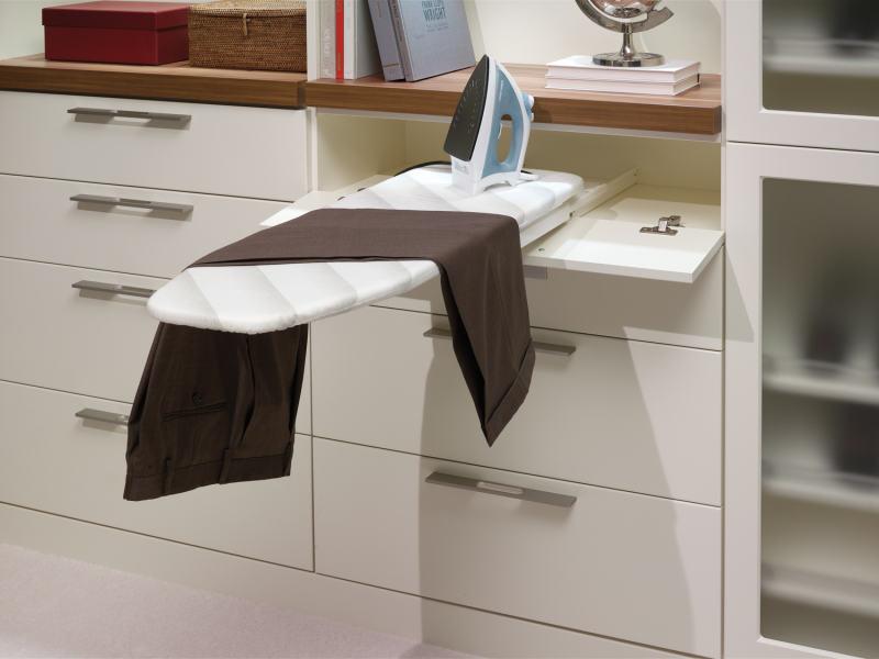 closet hidden ironing board