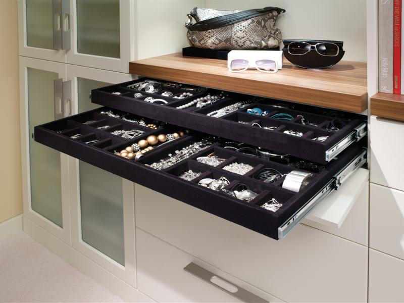 custom closet hidden jewelry tray