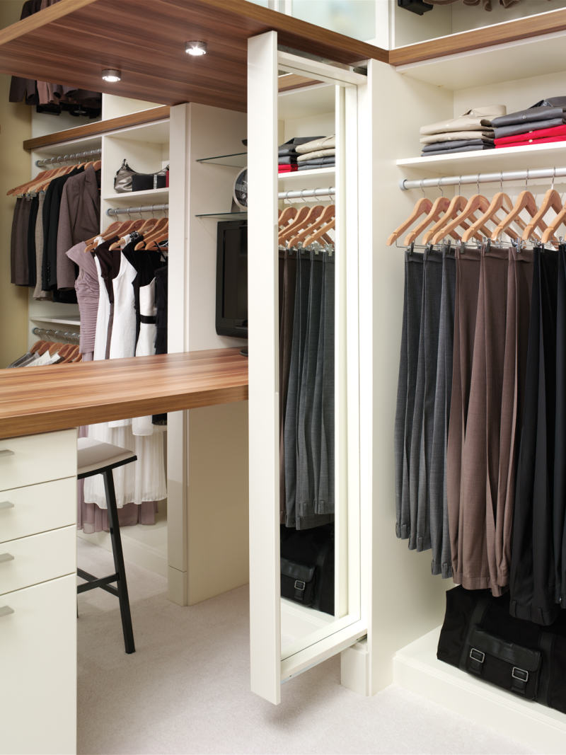 custom closet hidden mirror
