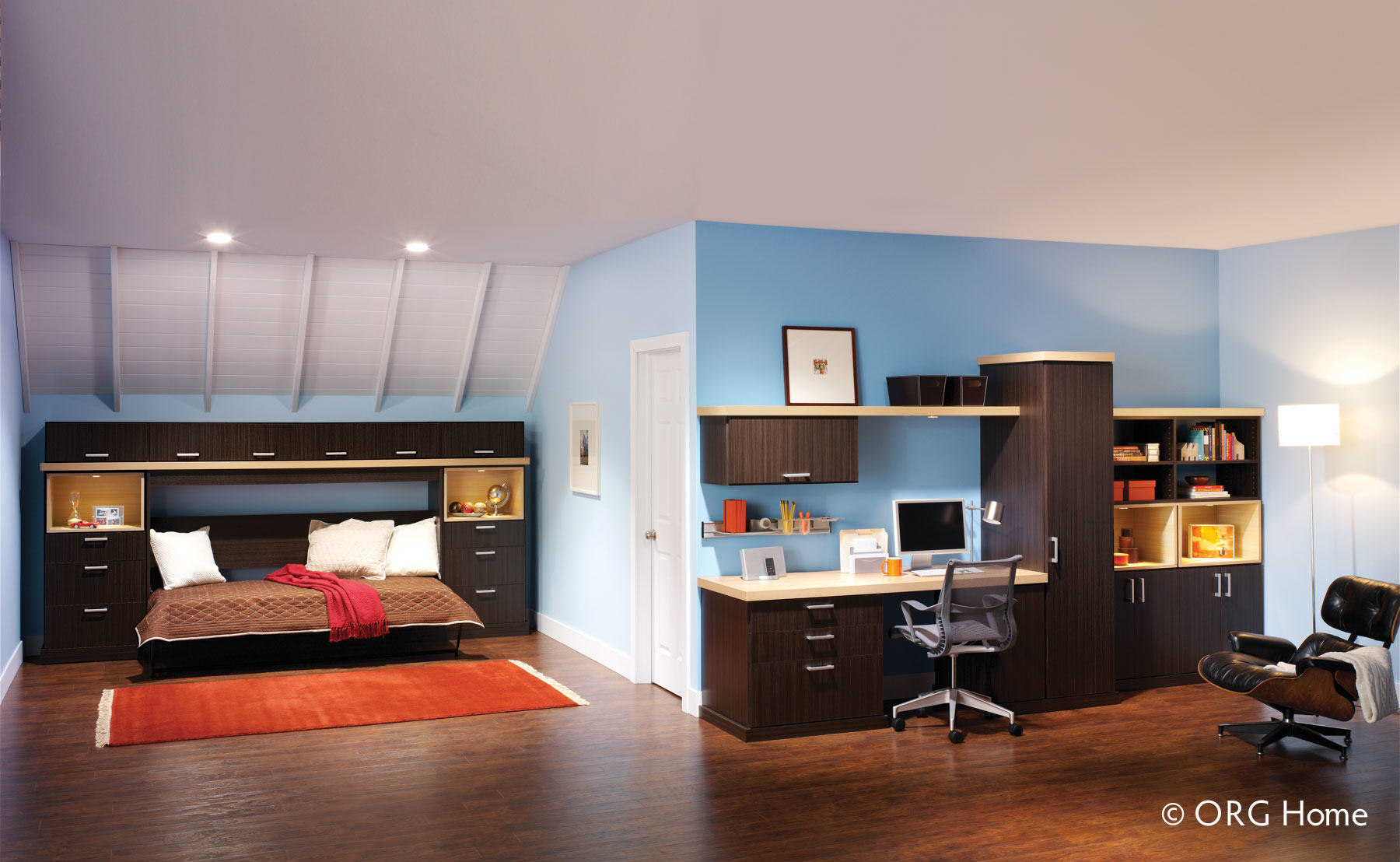 Home office with murphy bed Interior Design Murphy Bed And Office Storage Showplace Cabinetry Denver Murphy Bed Colorado Space Solutions