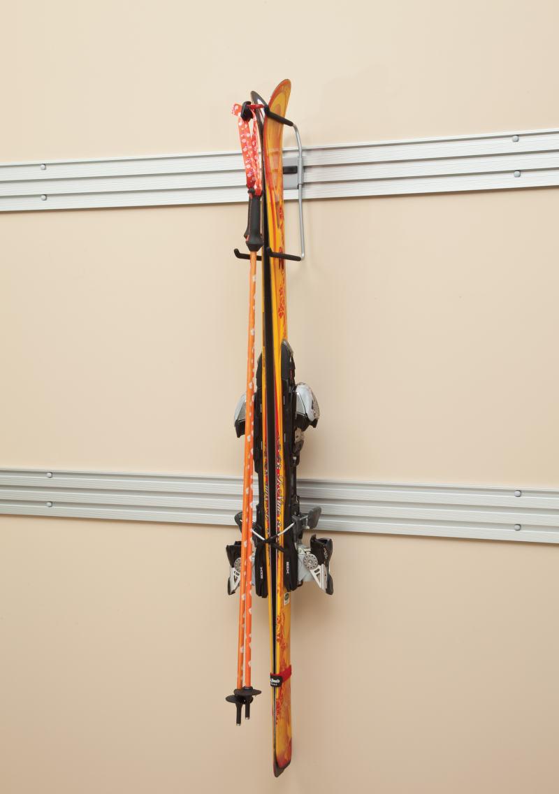 garage wall ski storage
