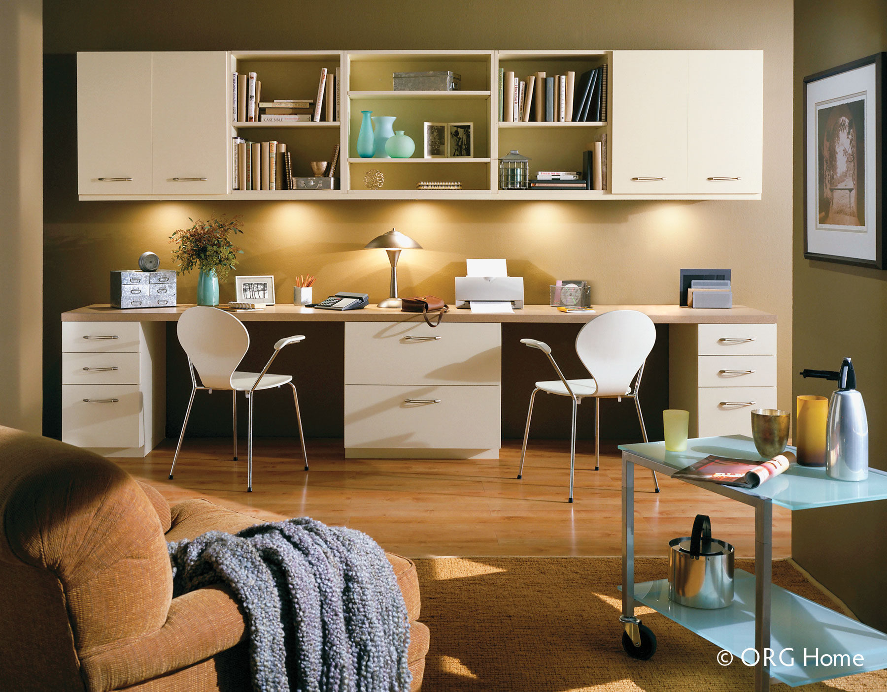 Comfortable Home Office Graphic Design Station. Office Cabinet And Drawer  Storage Comfortable Home Graphic Design