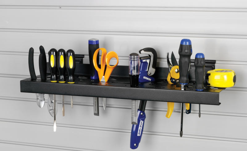 garage slatwall tool rack