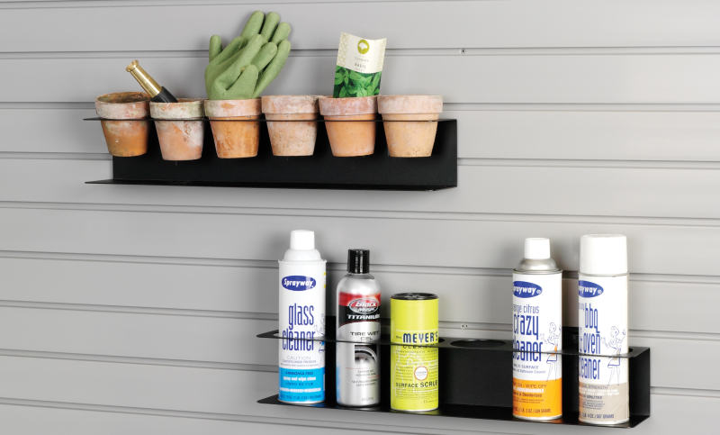 garage slatwall spray can rack
