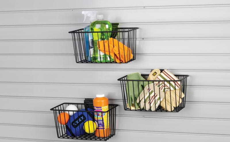 garage slatwall small basket
