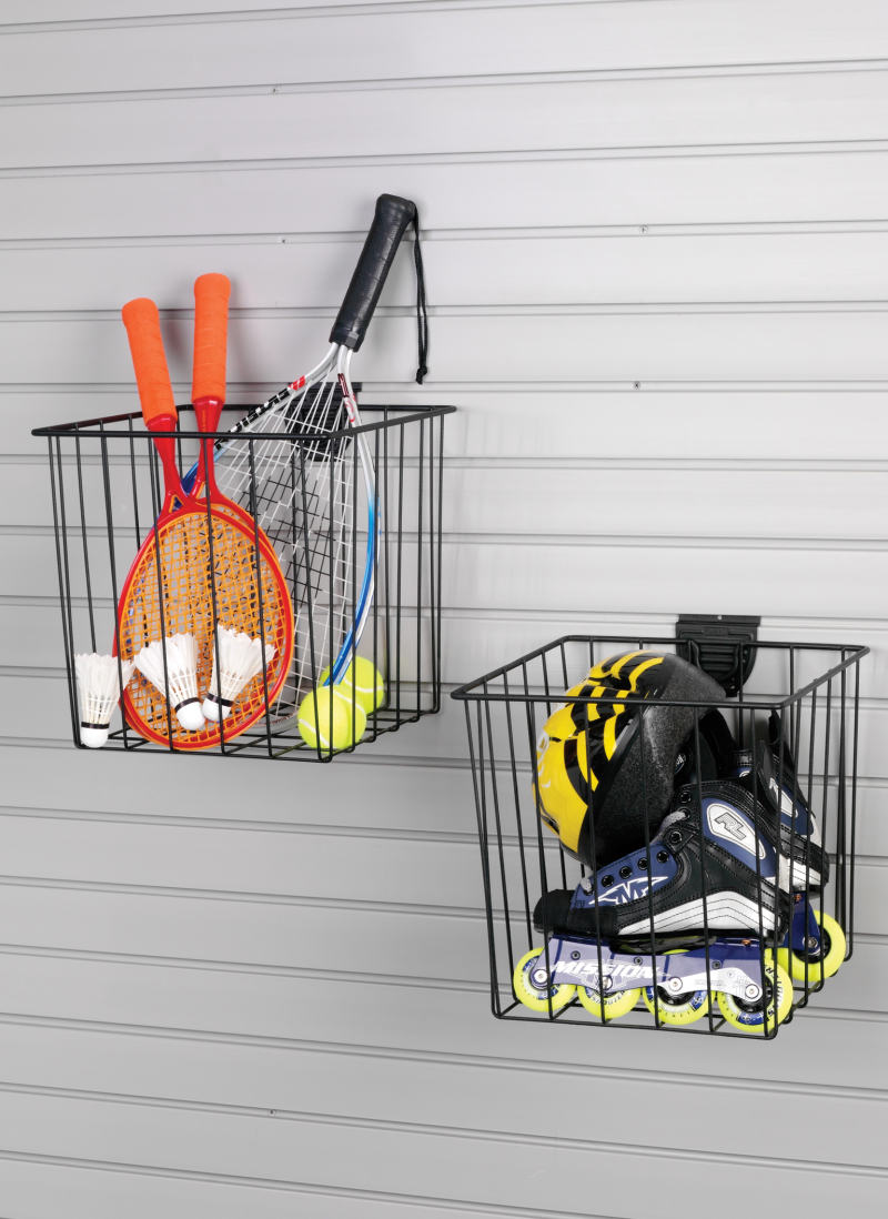 garage slatwall medium basket