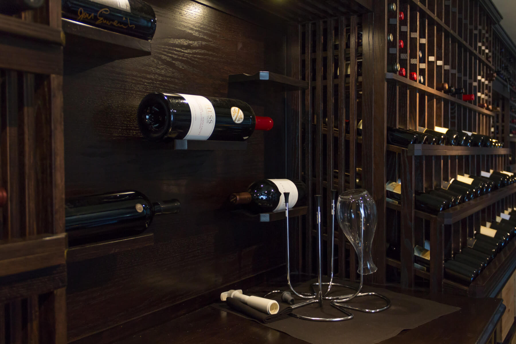 wood custom wine storage