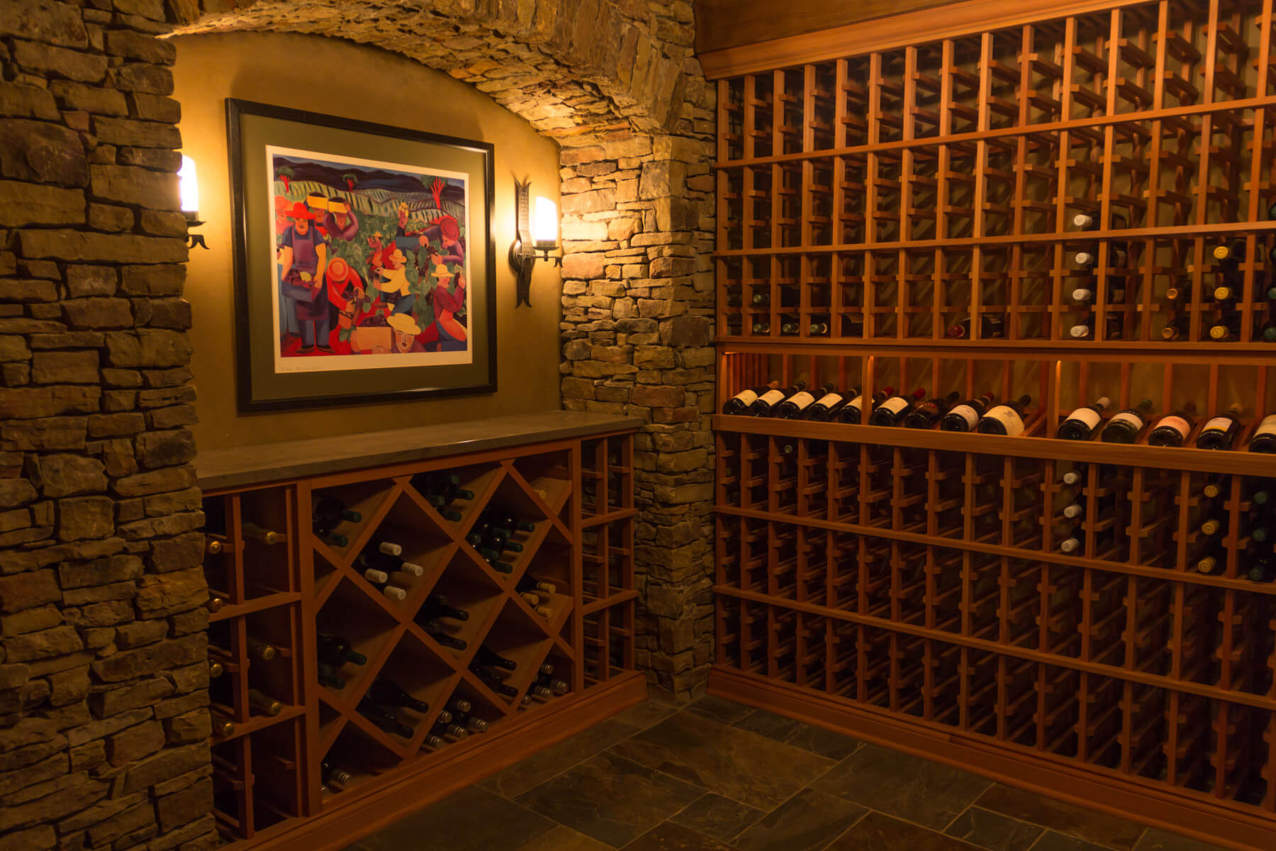 wood custom wine cellar storage
