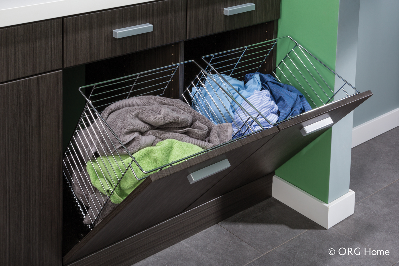laundry room storage hidden hamper